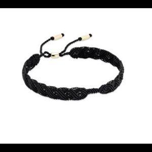 Pandora Macrame Bracelet 14k Barrel & Tips